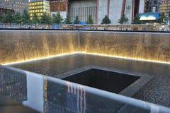 Mémorial infini de regroupement du 11 septembre Images libres de droits