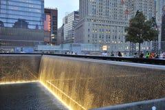 Mémorial infini de regroupement du 11 septembre Photographie stock libre de droits