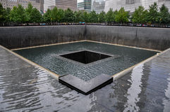 9-11 mémorial - Manhattan, NY Images stock