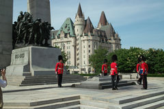 Mémorial national de guerre du Canada images libres de droits