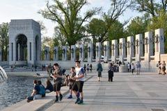 Mémorial national de la deuxième guerre mondiale à Washington, C.C Image stock
