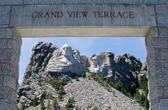 Mémorial national de Rushmore de support photo stock