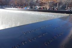 Mémorial national du 11 septembre Photos stock