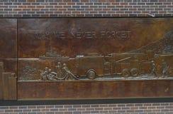 Mémorial New York de corps de sapeurs-pompiers Photos libres de droits