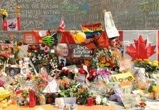 Mémorial pour le Chef fédéral Jack Layton de NDP Image libre de droits