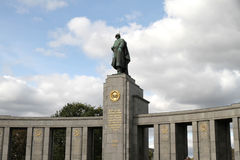 Mémorial pour les soldats soviétiques Photo stock