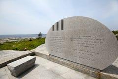 Mémorial public de Swissair 111 de la crique de Pegg, Nova Scotia Image stock