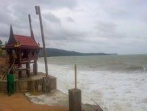 Mémorial rugueux 2014 de tsunami de Krabi Thaïlande de mer d'Andaman photos stock