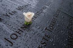 Mémorial simple de Rose 9-11 Photo libre de droits