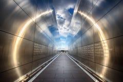 Mémorial vide de ciel photographie stock