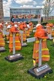 Mémoriaux de fatalité de travailleurs de route photographie stock