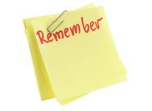 Mémorisez la feuille de papier image libre de droits