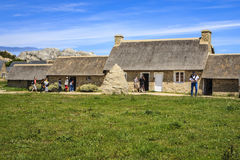 Ménéham, Kerlouan, Finistère, France. The village of Meneham was initially built as a lookout post in the 17th century by Vauban. It was built on the coast Stock Photo