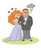 Ménages mariés Images stock