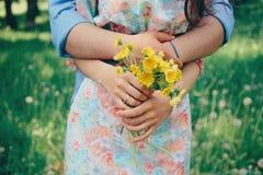 Ménages mariés dans l'amour Images libres de droits
