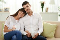 Ménages mariés heureux Images libres de droits