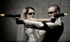 Ménages mariés neuf image libre de droits
