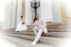 Ménages mariés neuf Photos stock