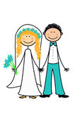 Ménages mariés neuf heureux Photographie stock