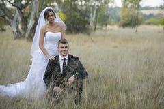 Ménages mariés nouvellement images libres de droits