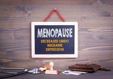 Ménopause, concept de santé du ` s de femmes Image stock