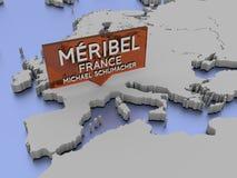 Méribel Frankrike, Michael Schumacher Arkivbilder