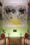 Mérida, Yucatan Mexique, le 22 janvier 2015 : Peinture murale en haut d'un escalier dans les gouverneurs construisant en Merida M Photo stock