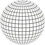 Méridien et longitude de globe illustration libre de droits