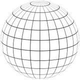 Méridien et parallèle de globe de graticule illustration libre de droits