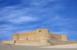 Méridional et le mur oriental du fort d'Arad Images stock