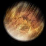 météore entrant de la terre de l'atmosphère illustration de vecteur