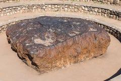 Météorite de Hoba en Namibie, la météorite la plus la plus large sur terre Photos stock