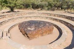 Météorite de Hoba en Namibie, la météorite la plus la plus large sur terre Image libre de droits