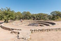 Météorite de Hoba en Namibie, la météorite la plus la plus large sur terre Photo libre de droits