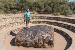 Météorite de Hoba en Namibie, la météorite la plus la plus large sur terre Photo stock