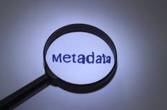Méta-données Image stock