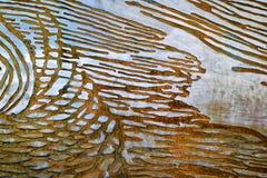 Métal abstrait de texture Photos libres de droits