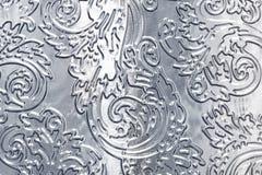 Métal avec la configuration florale Images stock