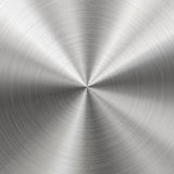 Métal balayé, texture radiale Photos libres de droits