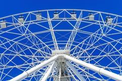 Métal blanc de Ferris Wheel Image libre de droits
