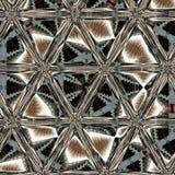 Métal brillant d'imitation de modèle ornemental kaléïdoscopique images stock
