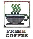 Métal corrodé de signe de café illustration de vecteur
