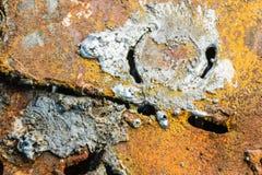 Métal coupé avec un brûleur à gaz abrégez le fond Industrie photos stock