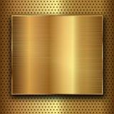Métal d'or Images stock