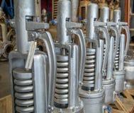 Métal d'acier de bride de valve Photo libre de droits