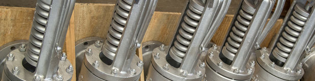 Métal d'acier de bride de valve Photographie stock libre de droits
