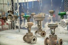 Métal d'acier de bride de valve Photos stock