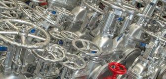 Métal d'acier de bride de valve Images stock