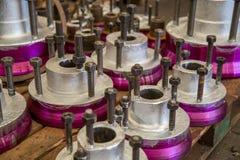 Métal d'acier de bride de valve Images libres de droits