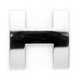 métal de lettre de h Image libre de droits